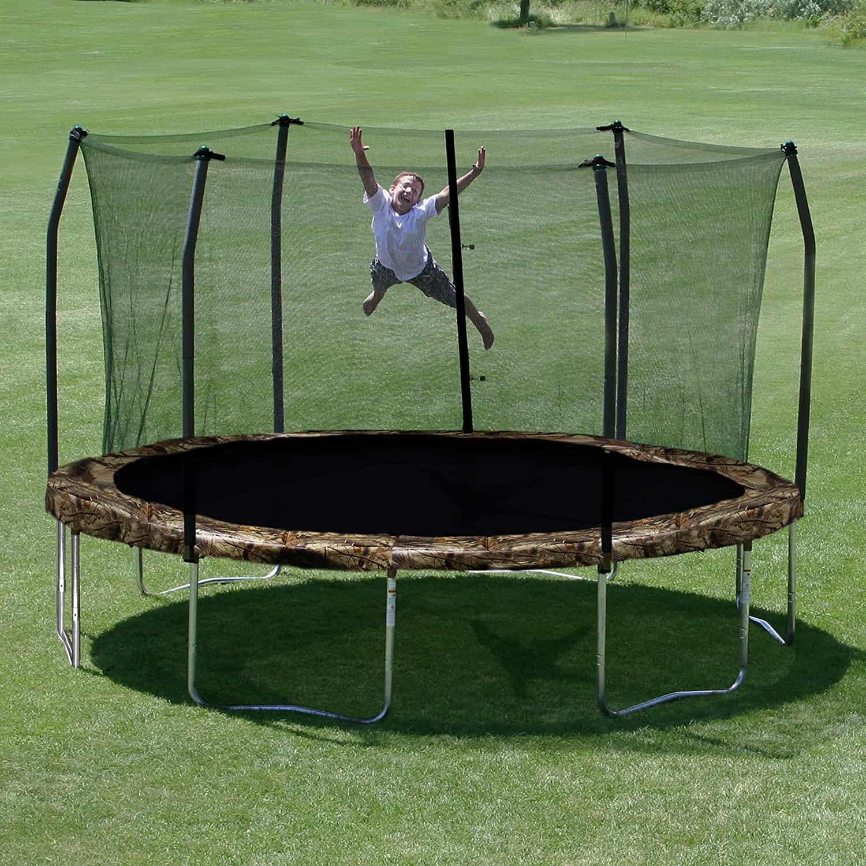 Skywalker 15 Ft Round Trampoline With Enclosure: Skywalker Trampolines Round And Enclosure, 15 Feet