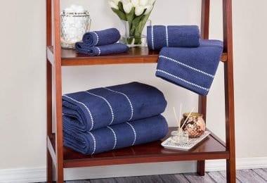 Lavish Home- Quick Dry, 100Percent Cotton, 6Piece Towel Set