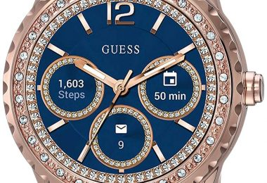 GUESS Women's Stainless Steel Touch Screen Smart Watch