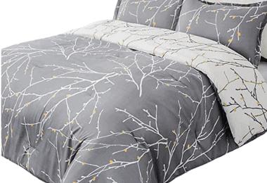 Bedsure Tree Branch Floral Comforter Set