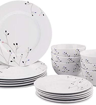 AmazonBasics 18-Piece Kitchen Dinnerware Set
