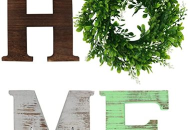 GUIFIER Wall Hanging Wood Home Sign